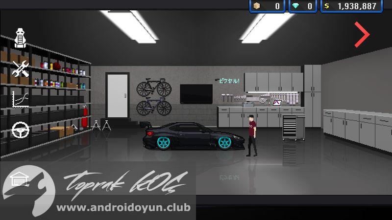 Pixel car racer v1 mod apk para h lel for Garage pixel auto metz