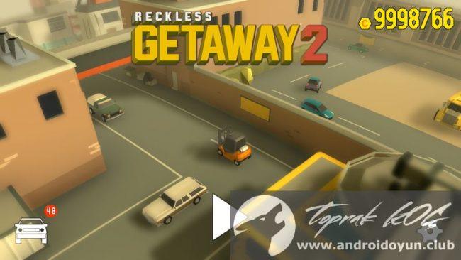 Reckless getaway 2 - аркадная гоночная игрушка, которая поместить нас в шкуру грабителей банков