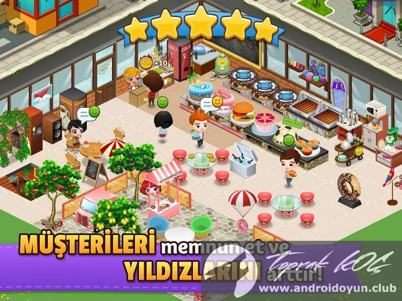 Cafeland world kitchen v1 1 1 mod apk para h lel for Kitchen queen mod apk