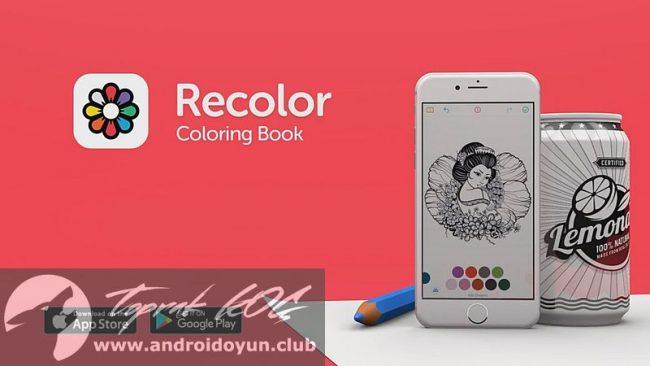 Recolor Coloring Book V256 FULL APK Boyama Yapmay Seviyorsanz Ve Birazda Stresten Uzaklamak Istiyorsanz Ccihaznzda Bulunmas Gerektiini Dndm