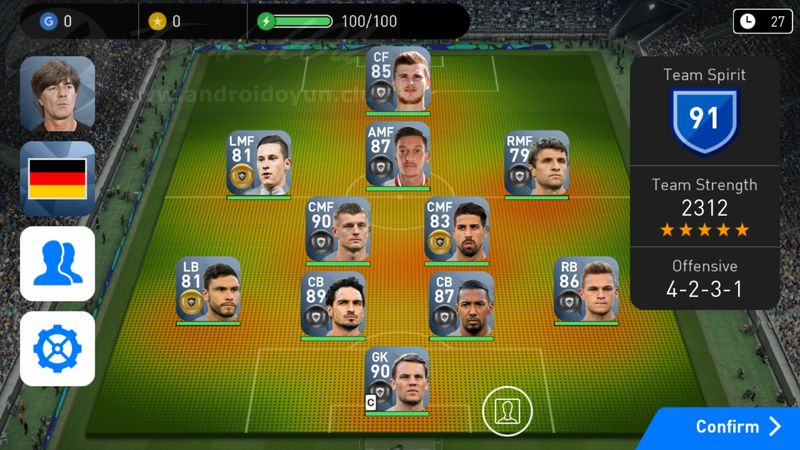 *Players are obtained from this Special Agent at Lv.1. *In-game player club data is frequently synchronised with real world football data through PES Live Updates.